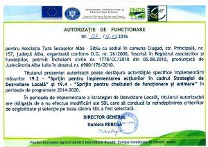 Autorizatia de Functionare